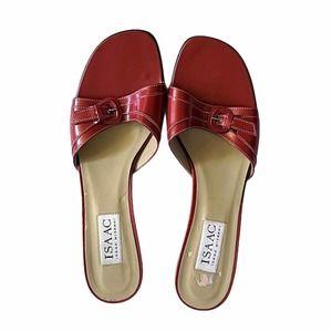 Isaac Mizrahi Red Mule/Clog Leather Heels - 8.5